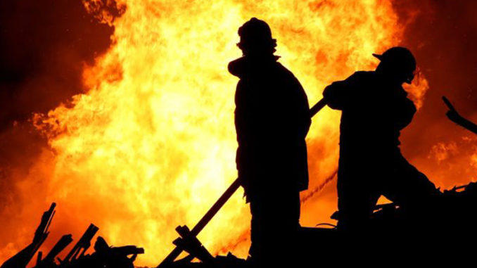 firefighters wildfire defense program