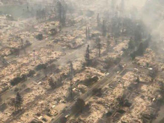 fire ravaged neighborhood in northern california