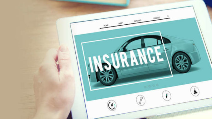 tablet showing cheap insurance options