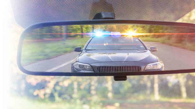 police in mirror no insurance