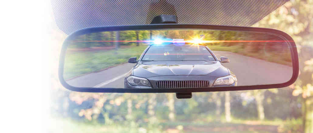 police in mirror no insurance