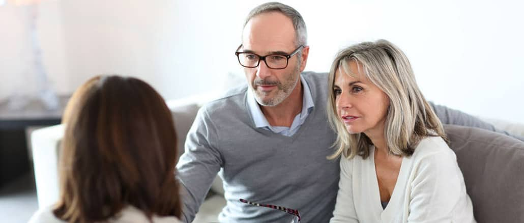 couple making insurance coverage decisions