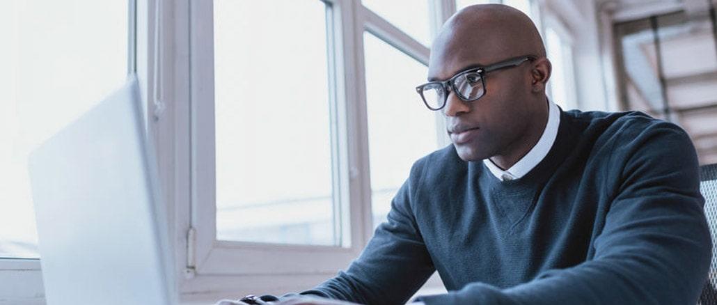 man choosing insurance company