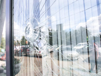 damaged window caused by minors
