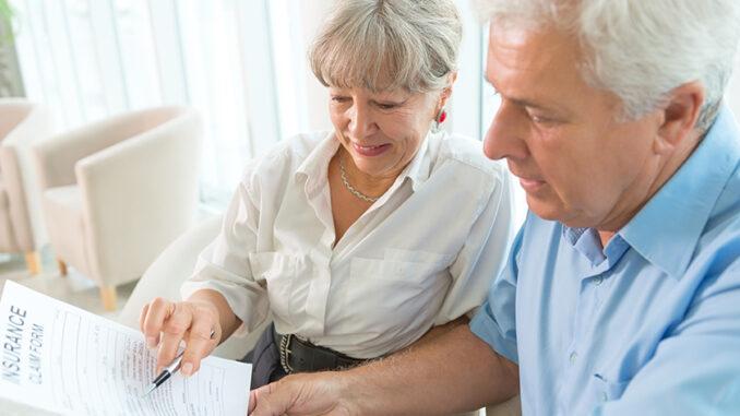 seniors looking at life insurance