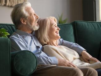 senior couple enjoying their time